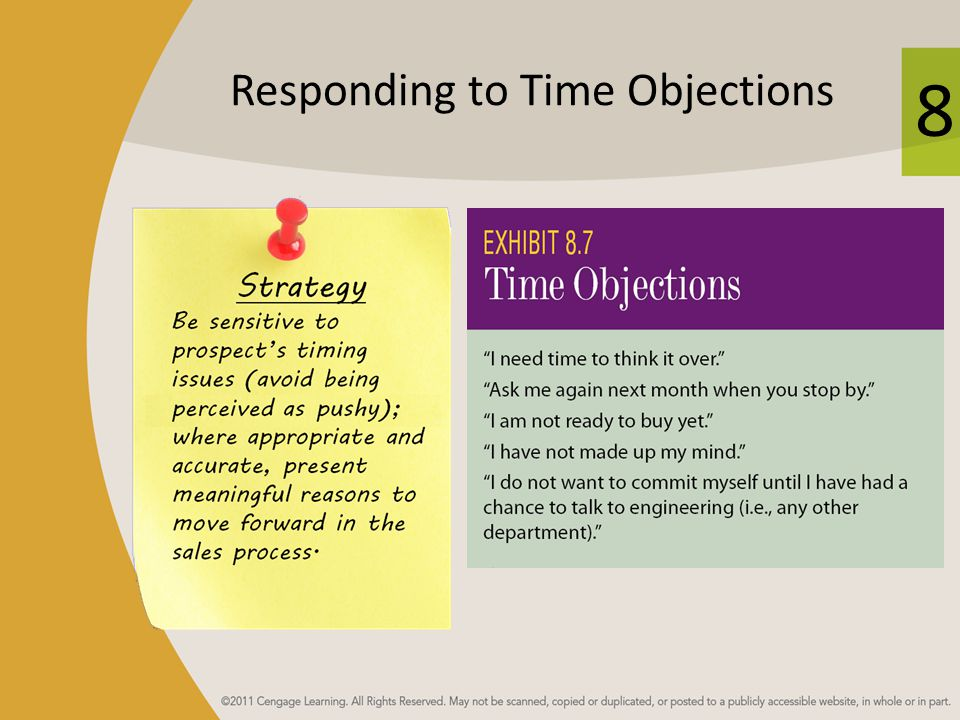 Responding to Time Objections