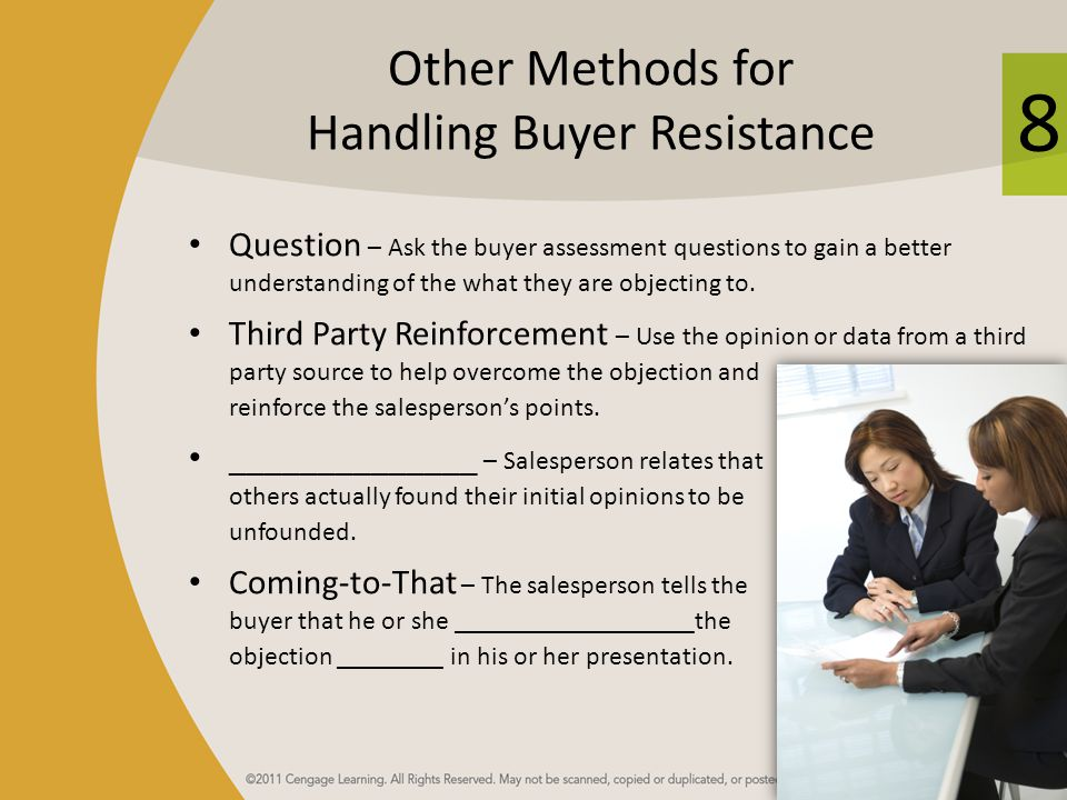Other Methods for Handling Buyer Resistance