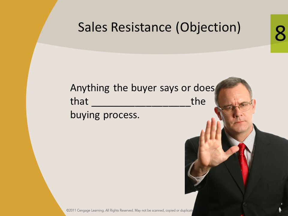 Sales Resistance (Objection)