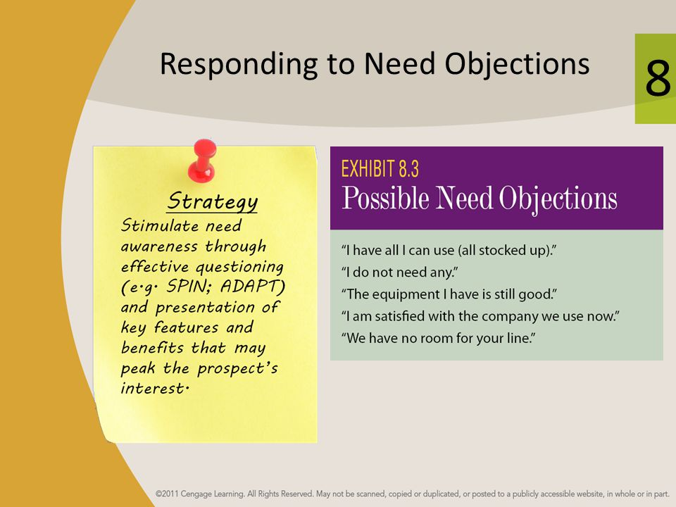 Responding to Need Objections