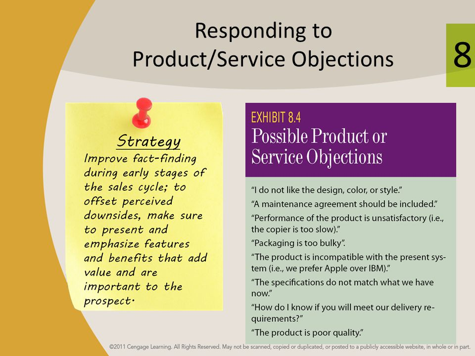 Responding to Product/Service Objections