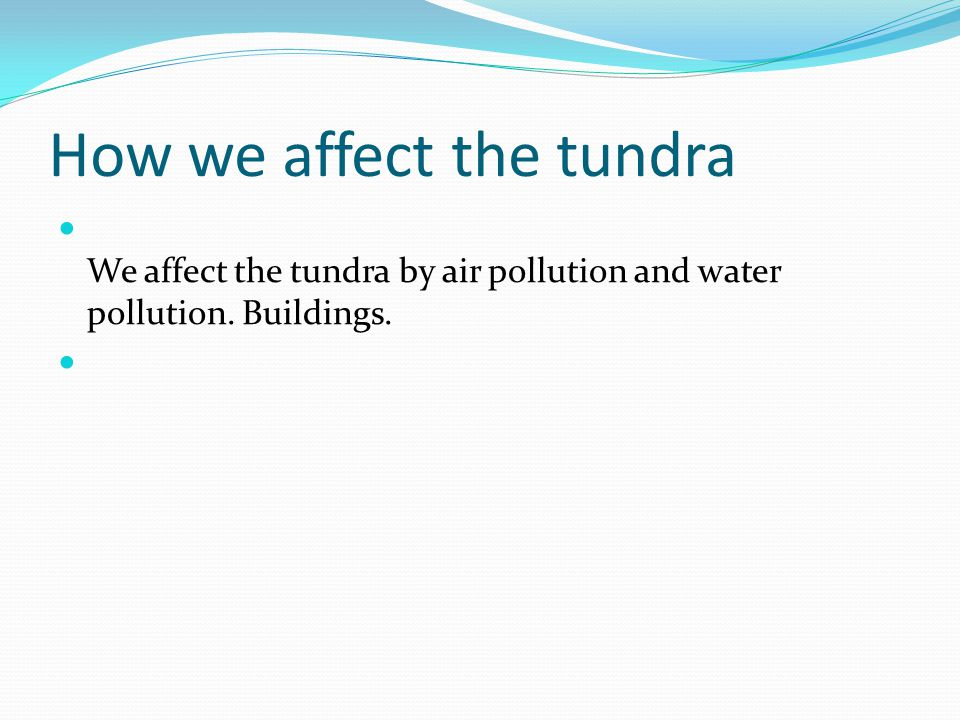 How we affect the tundra