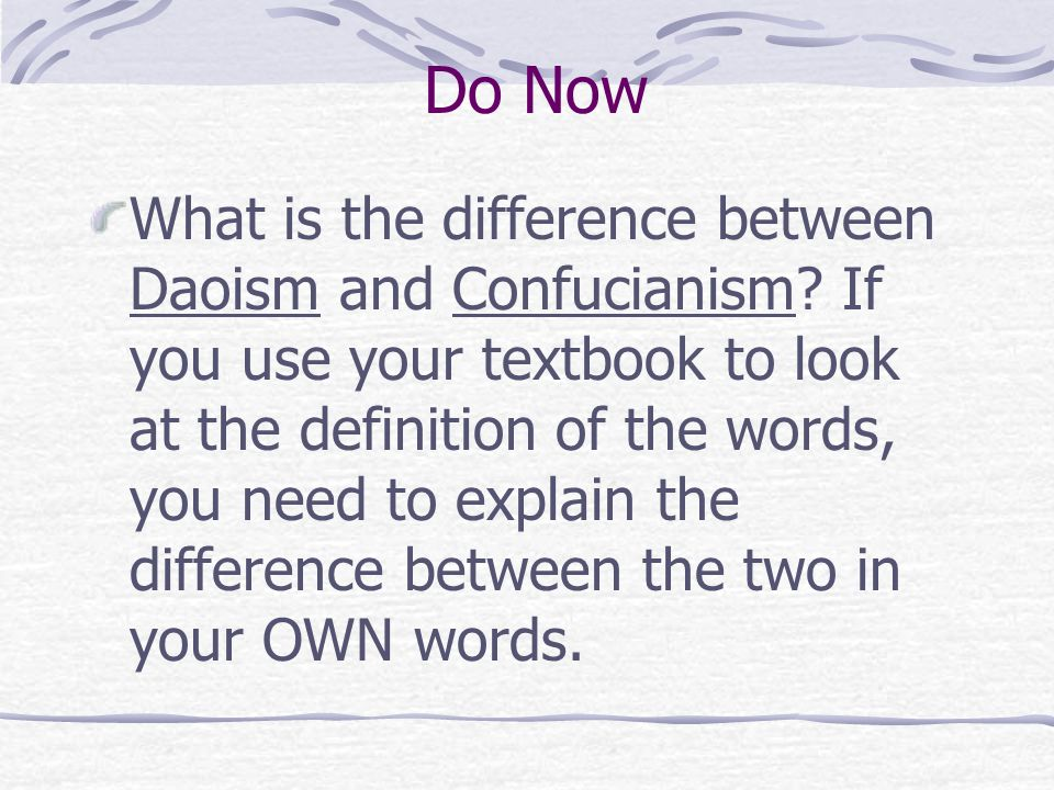 What is the difference between Confucianism and Daoism?
