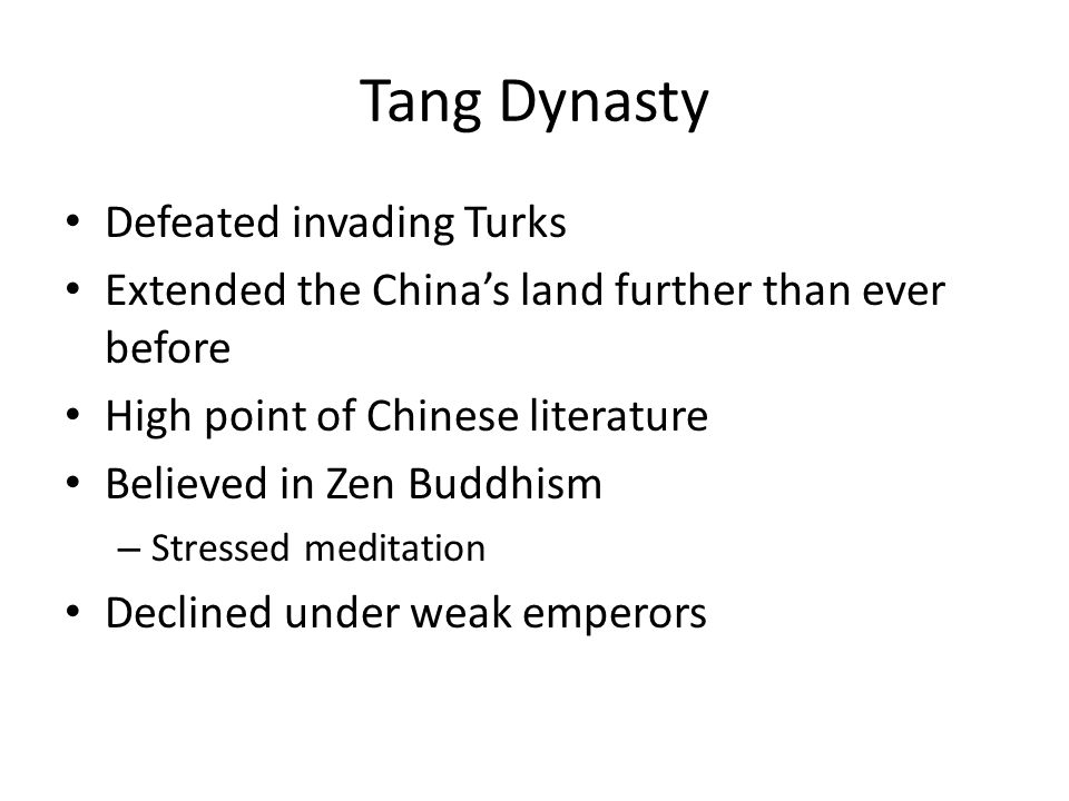 Tang Dynasty Defeated invading Turks