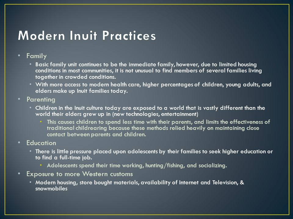 Modern Inuit Practices