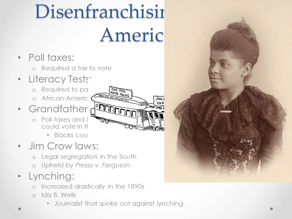 Disenfranchising African-Americans