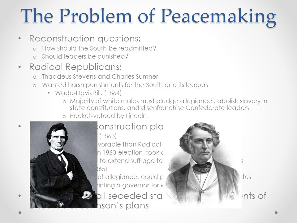 The Problem of Peacemaking