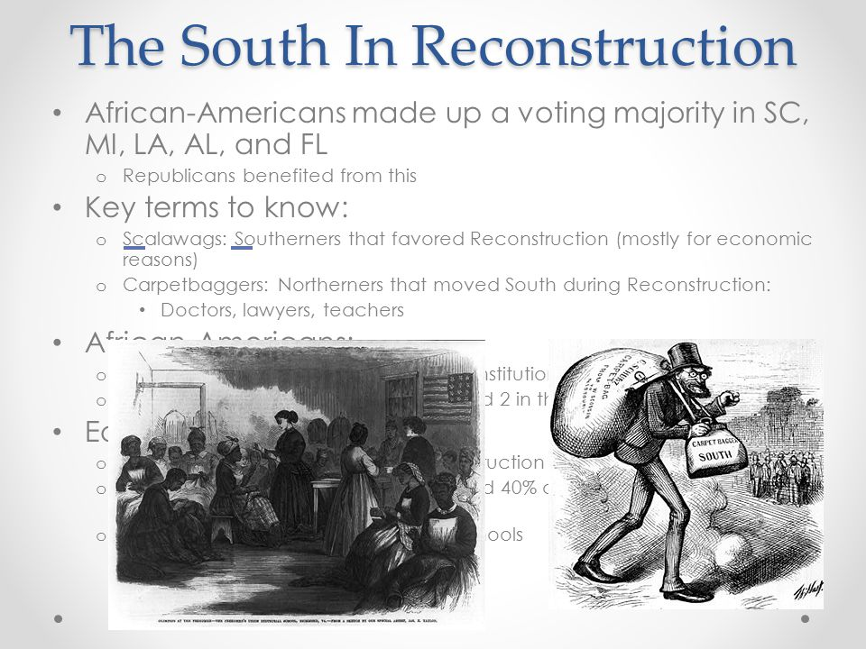 The South In Reconstruction