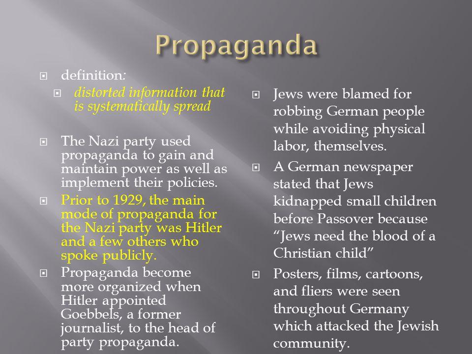 Propaganda definition: