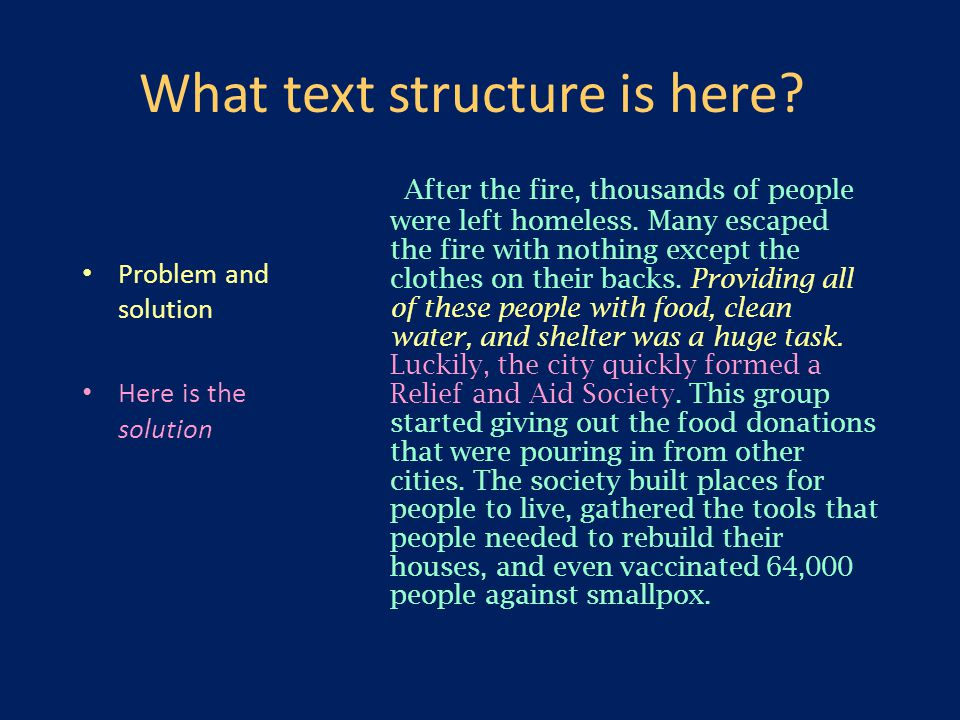 What text structure is here