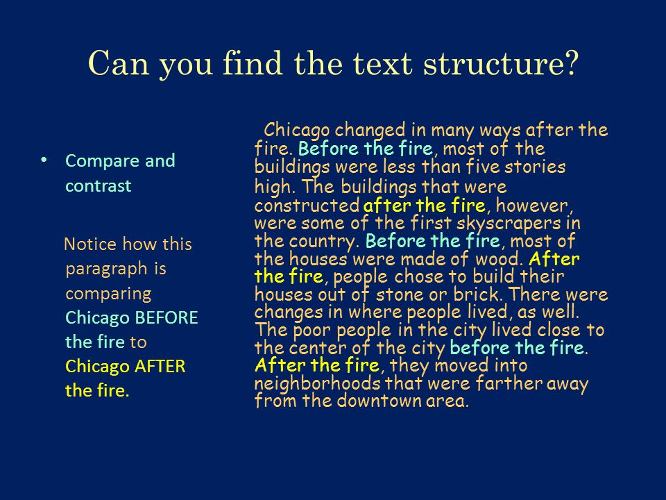 Can you find the text structure