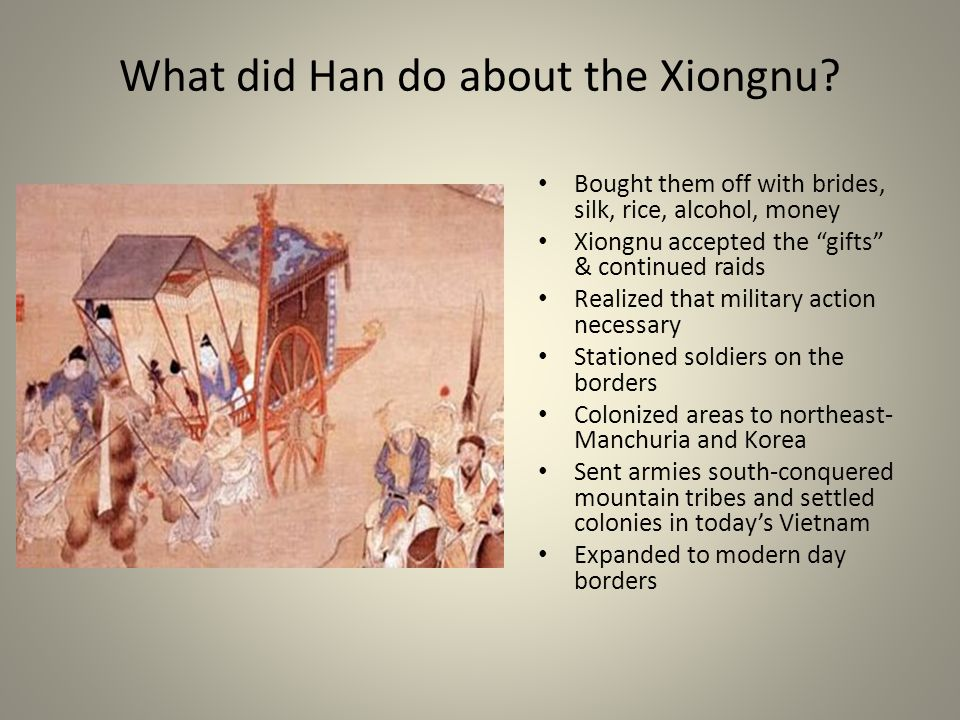 What did Han do about the Xiongnu