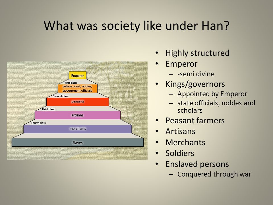 What was society like under Han