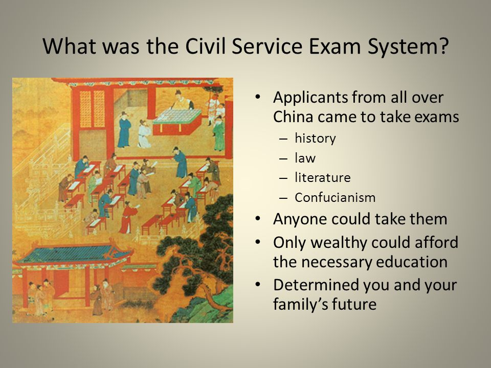 What was the Civil Service Exam System