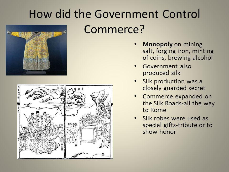 How did the Government Control Commerce