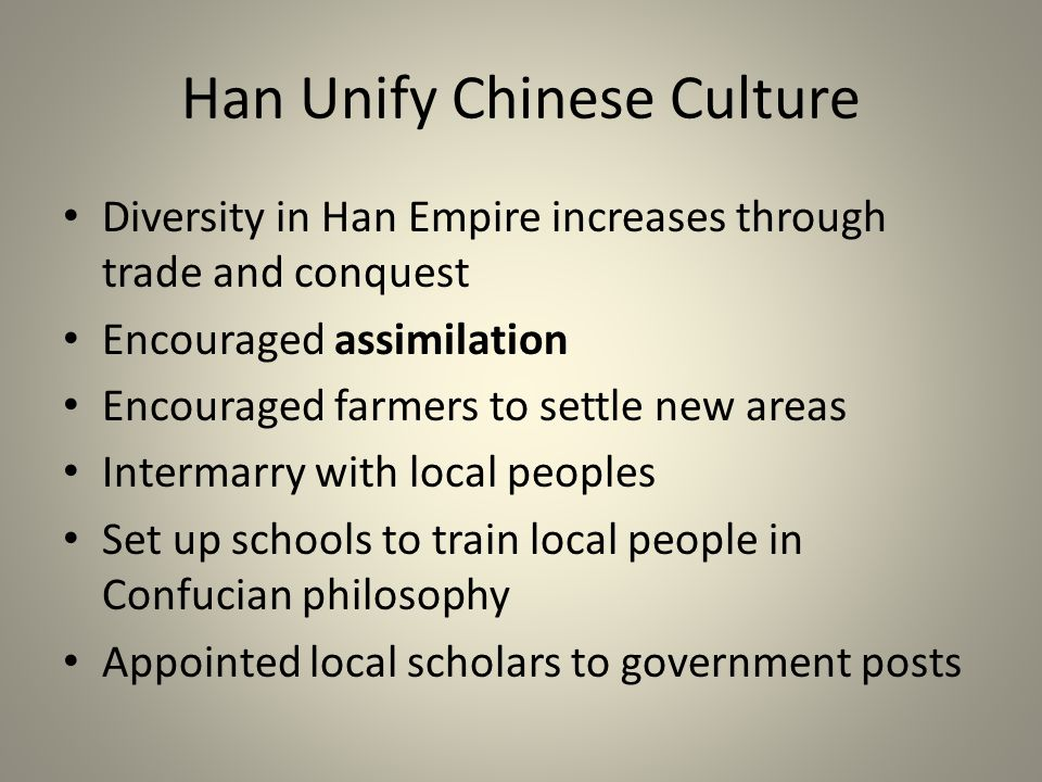Han Unify Chinese Culture