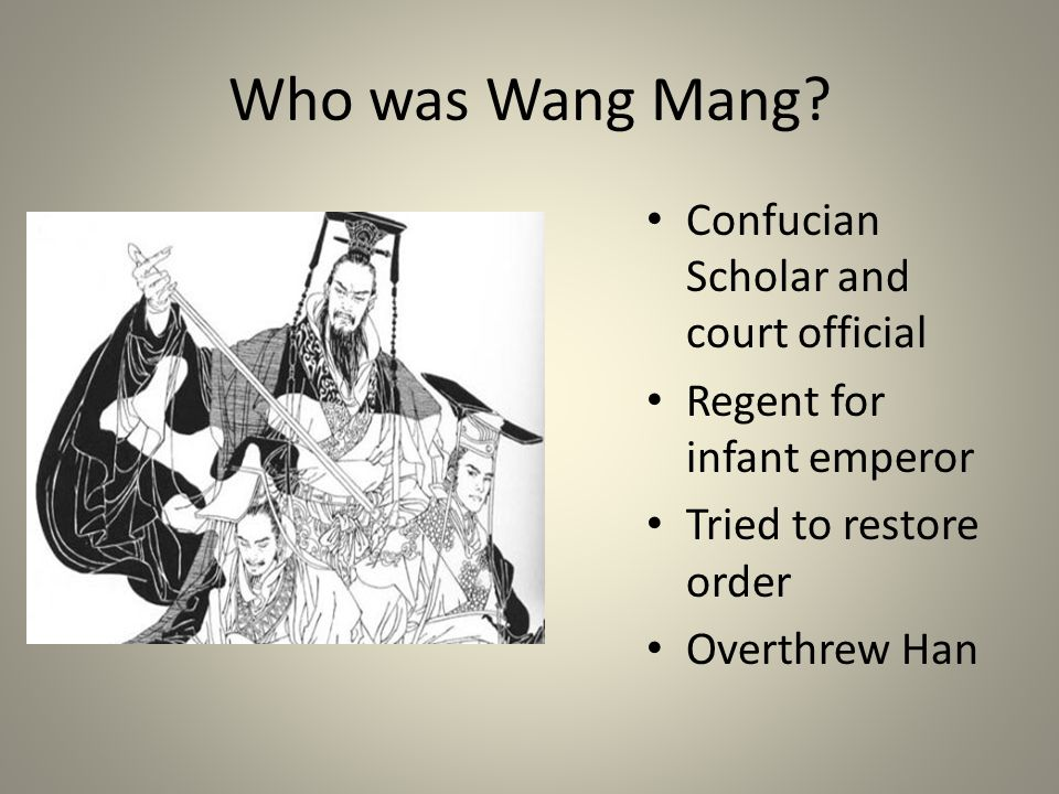 Who was Wang Mang Confucian Scholar and court official