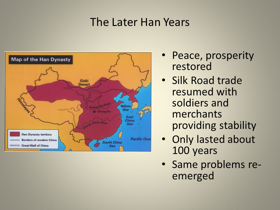 The Later Han Years Peace, prosperity restored