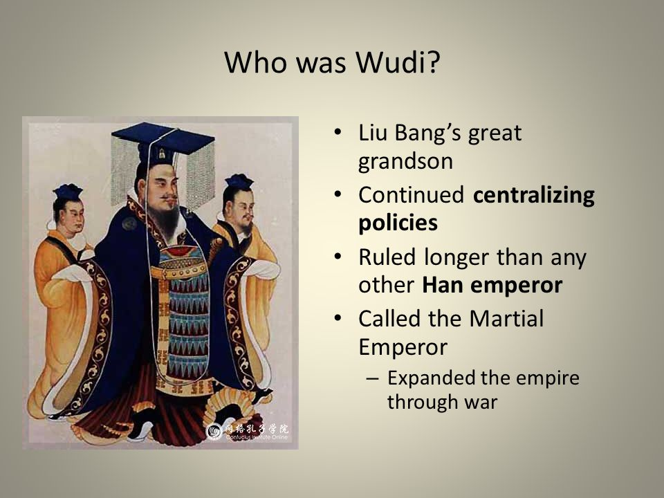 Who was Wudi Liu Bang's great grandson