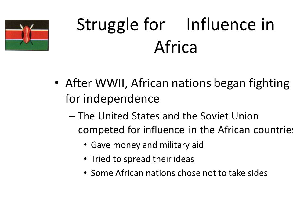 Struggle for Influence in Africa