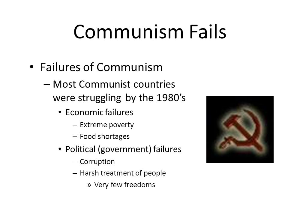 Communism Fails Failures of Communism