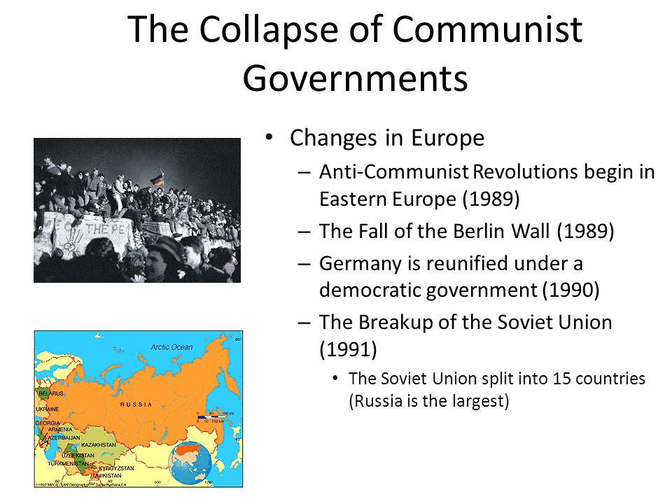 The Collapse of Communist Governments