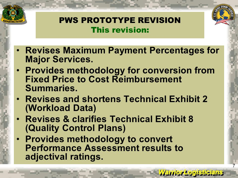 PWS PROTOTYPE REVISION This revision: