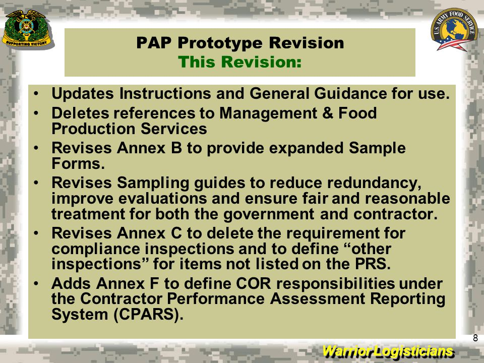 PAP Prototype Revision This Revision: