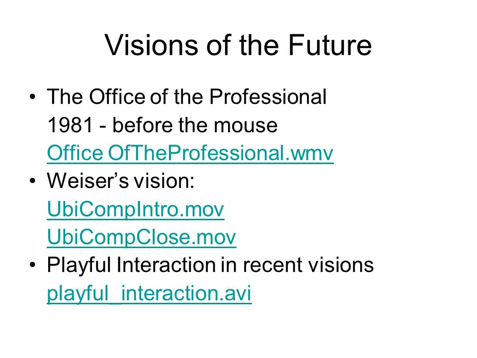Visions of the Future The Office of the Professional
