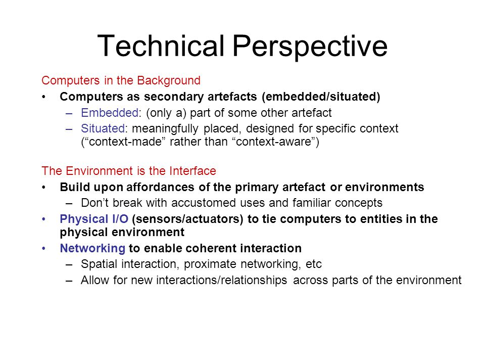 Technical Perspective