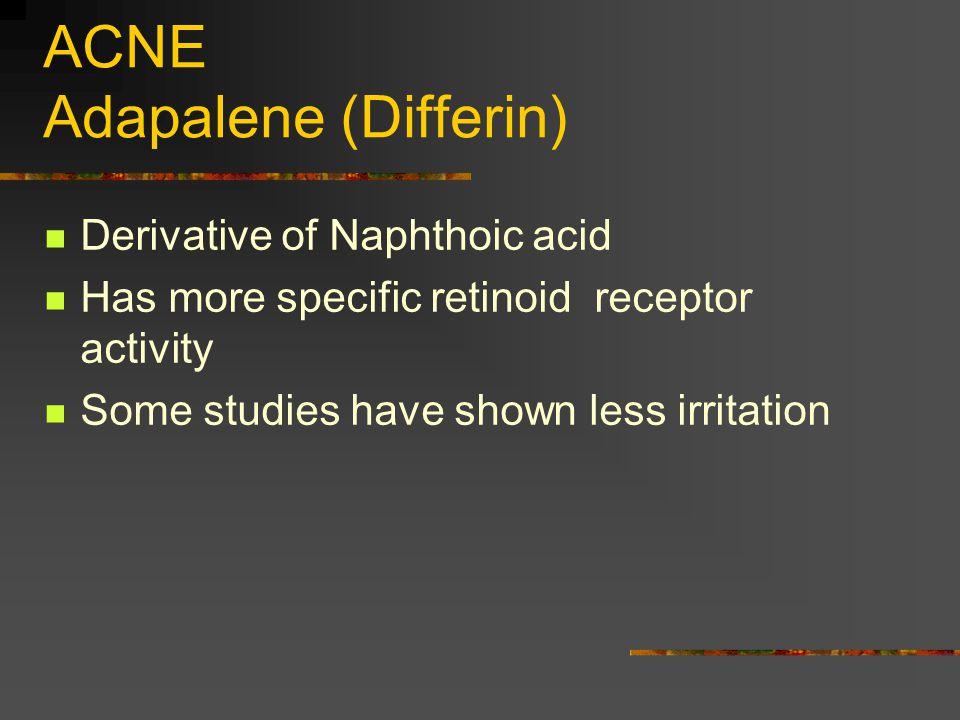 ACNE Adapalene (Differin)