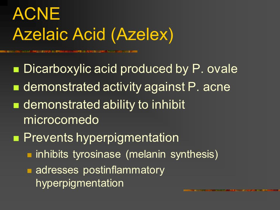 ACNE Azelaic Acid (Azelex)