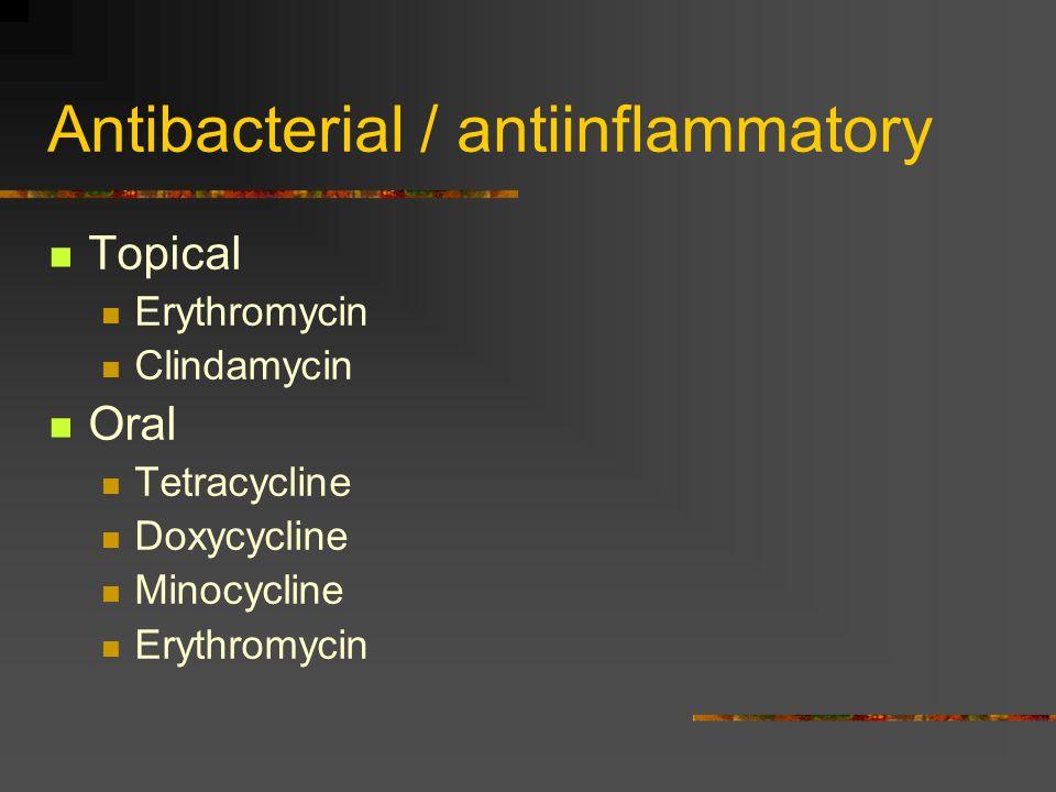 Antibacterial / antiinflammatory