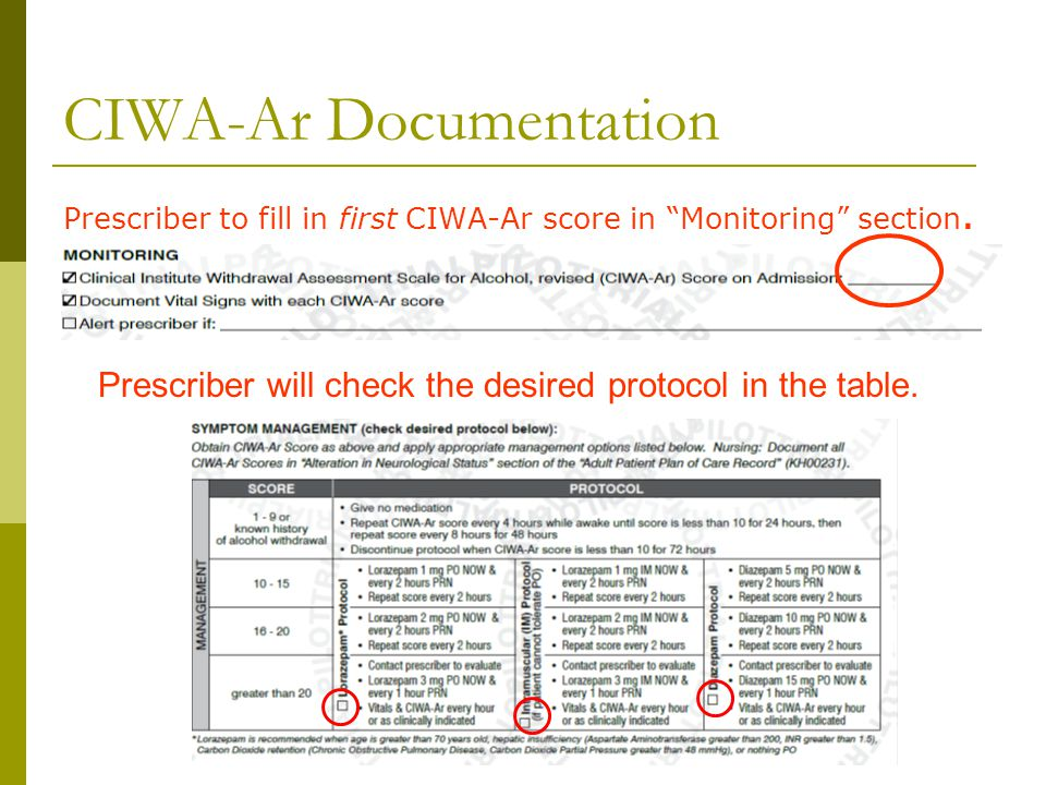 CIWA-Ar Documentation