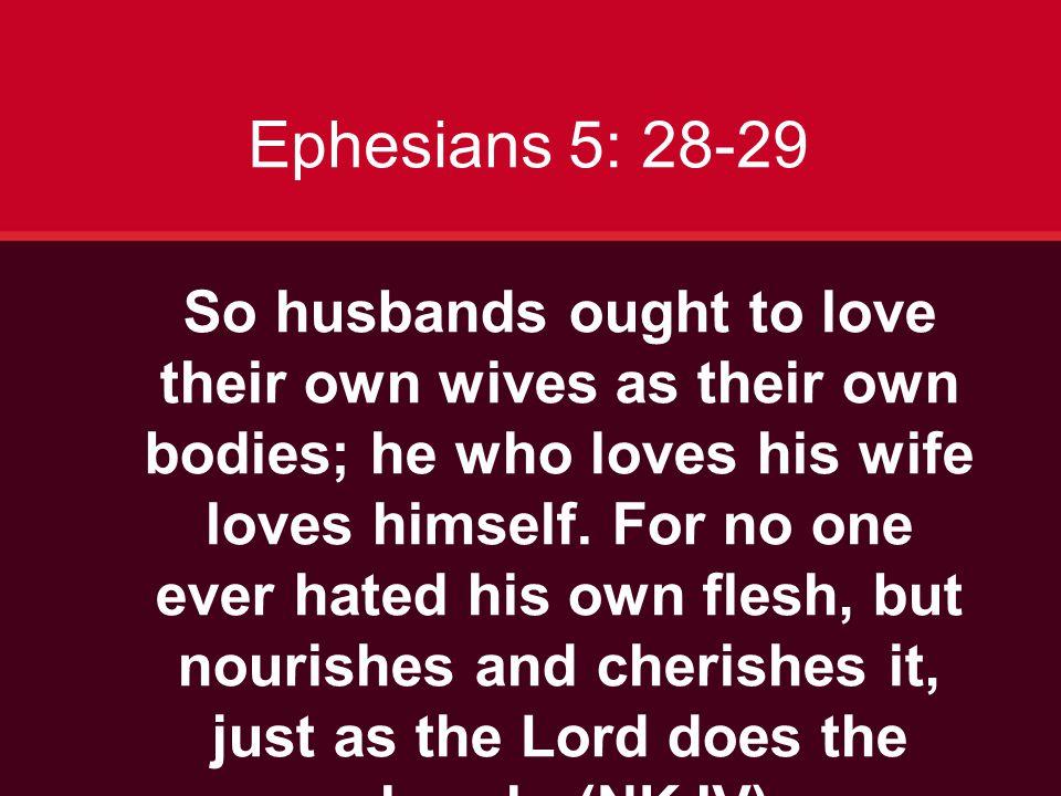 Ephesians 5: 28-29