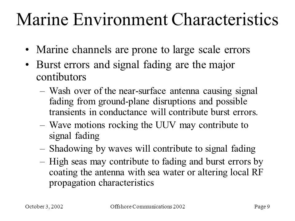Marine Environment Characteristics