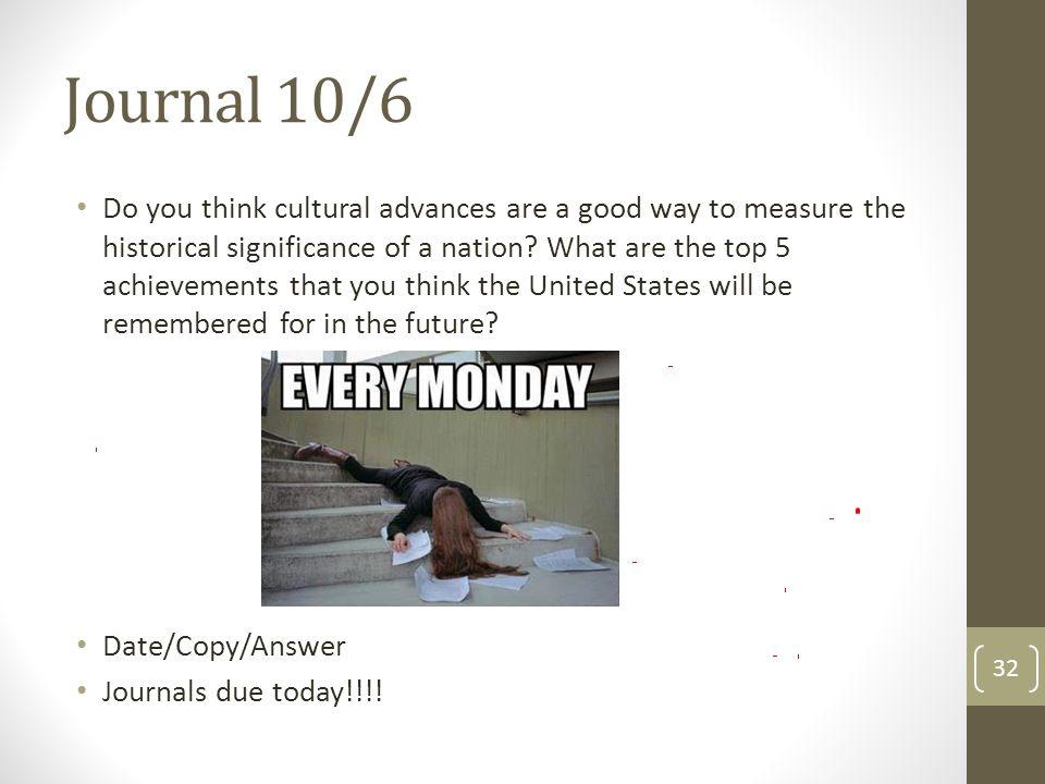 Journal 10/6