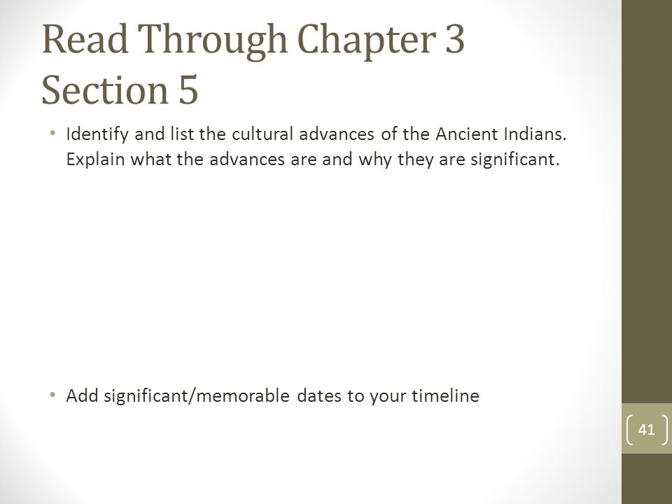 Read Through Chapter 3 Section 5