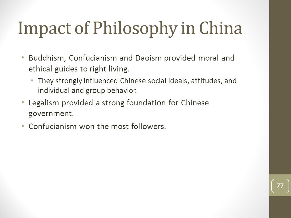 Impact of Philosophy in China