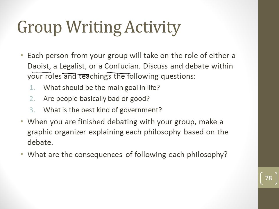 Group Writing Activity