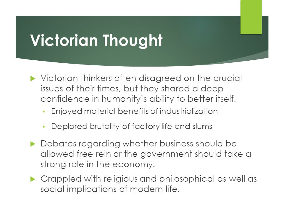 Victorian Thought