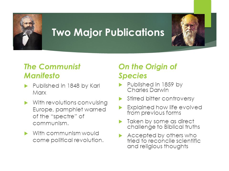 Two Major Publications