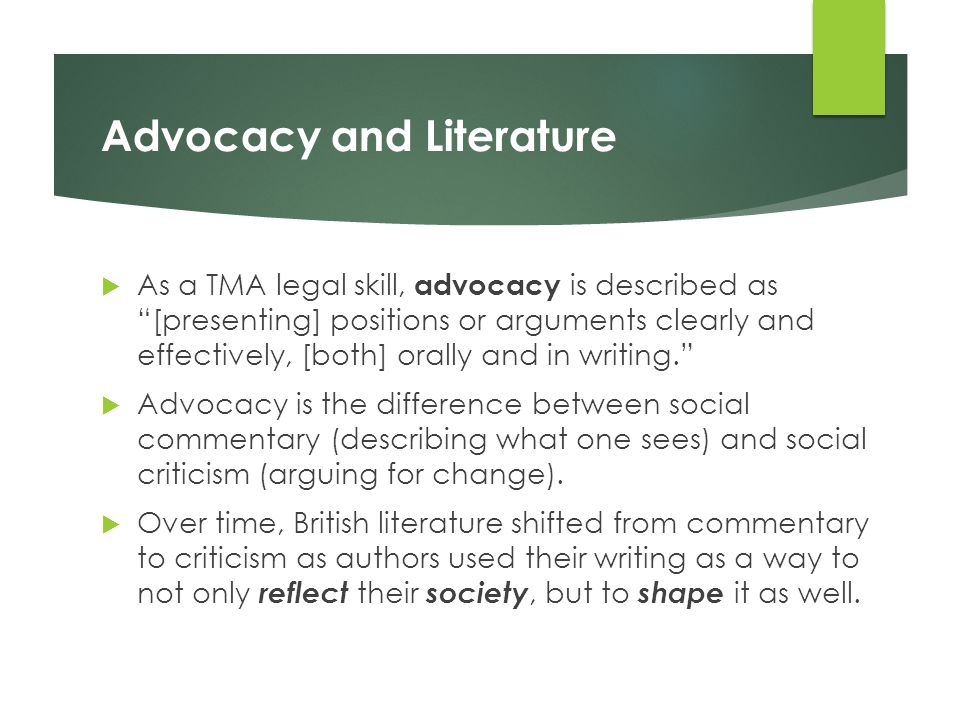 Advocacy and Literature