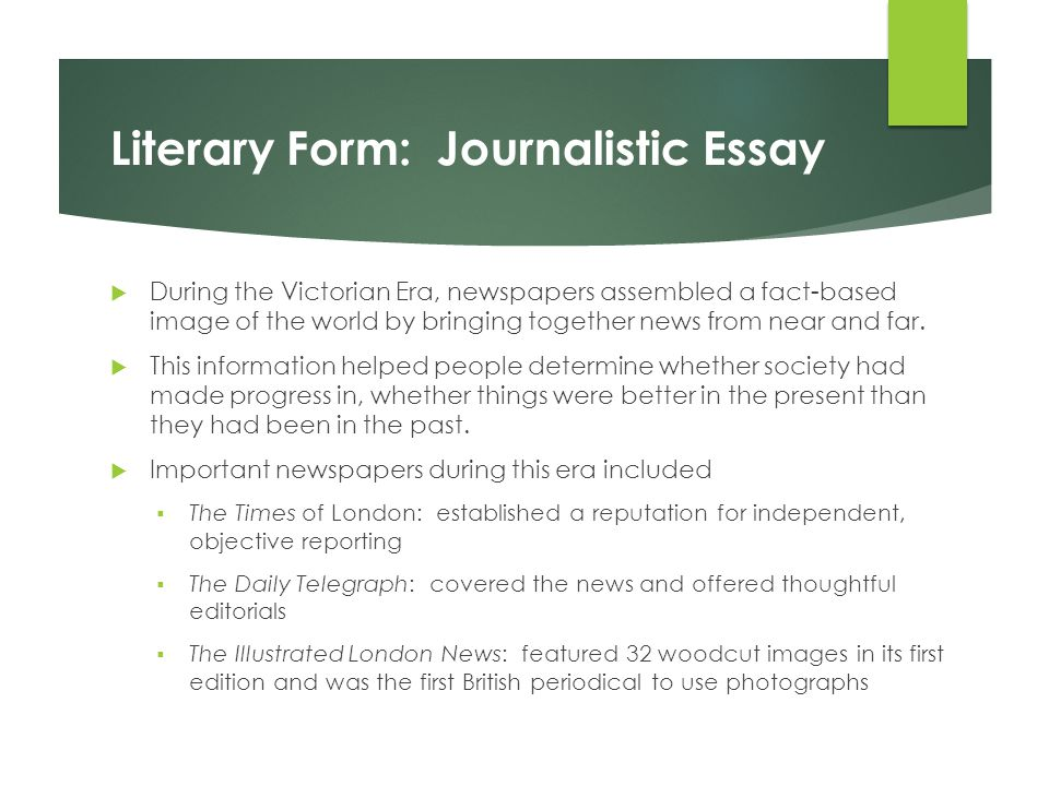 progress and decline the victorian era ppt  literary form journalistic essay