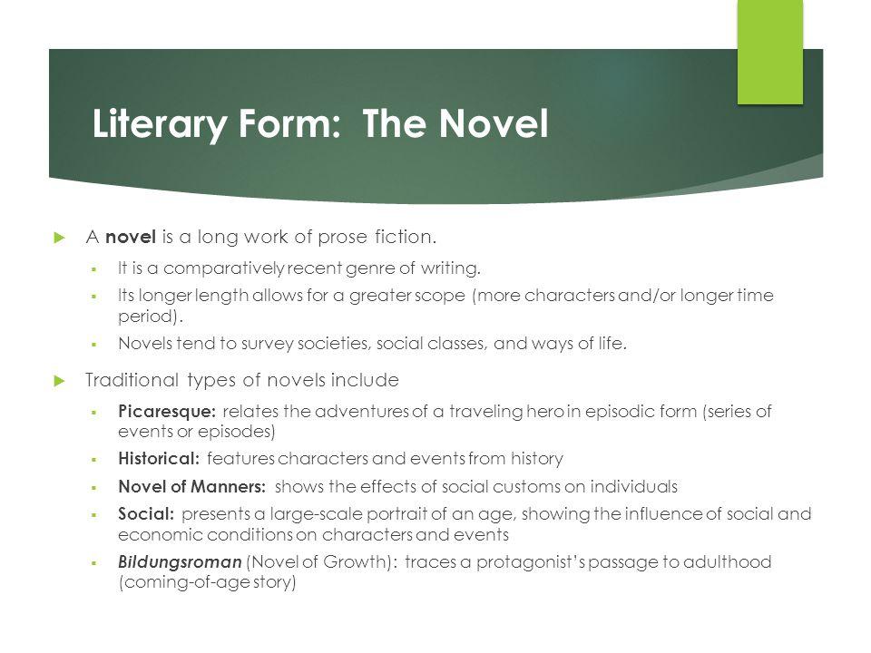 Literary Form: The Novel