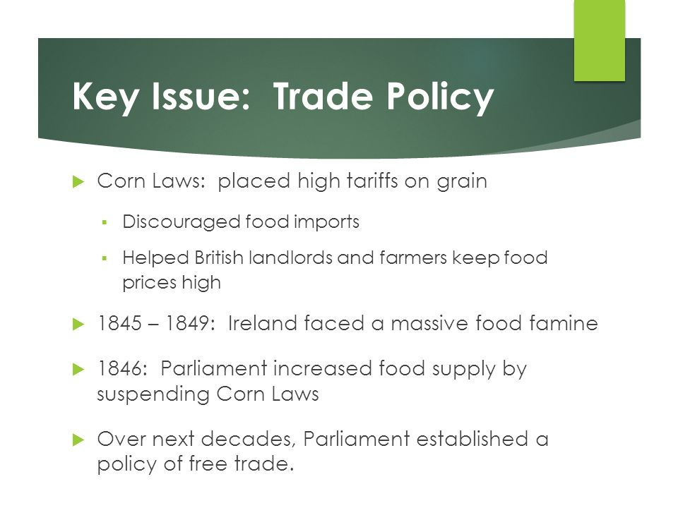 Key Issue: Trade Policy