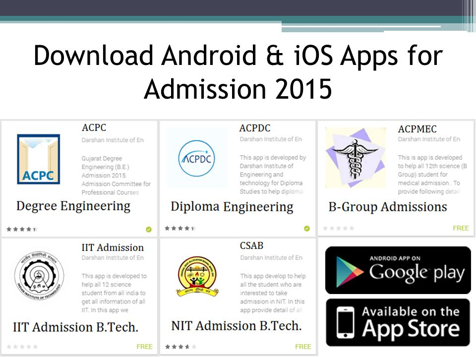 Download Android & iOS Apps for Admission 2015