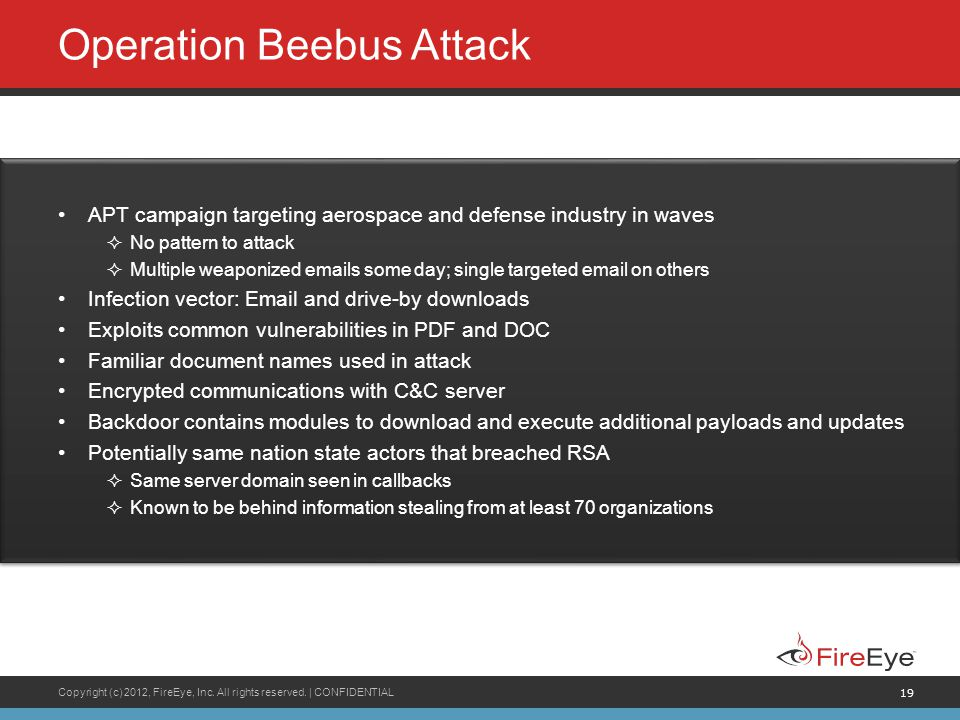 Operation Beebus Attack