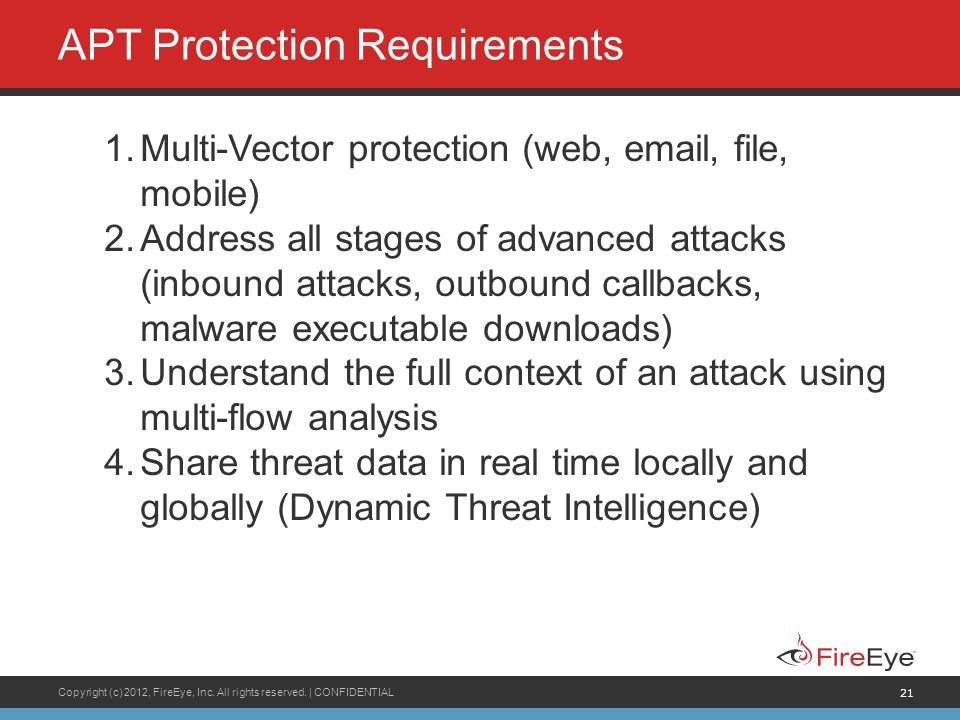 APT Protection Requirements
