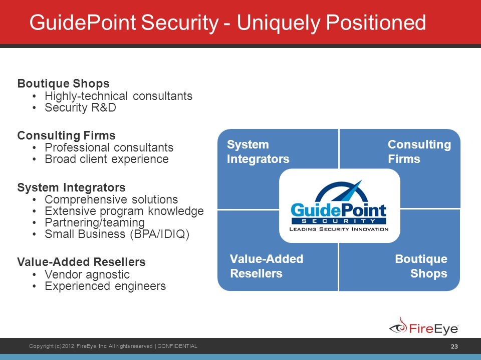 GuidePoint Security - Uniquely Positioned